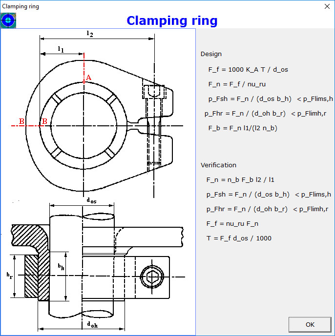 Clamping Ring Figure Dialog Box